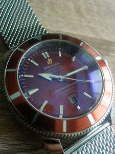 LIKE NEW Rep Automatic Breitling Superocean Heritage 46 Red