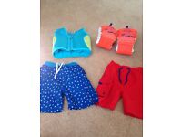 Swim jacket armbands and shorts