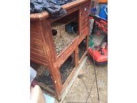 Guineapig/rabbit double hutch