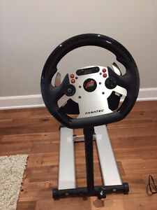 Fanatec CSR Wheel, Elite Pedals, and Stand