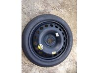 """Vauxhall corsa 63 plate space saver wheel and tyre 16"""""""