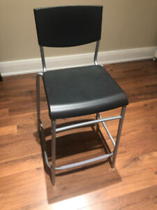 IKEA STIG Bar stool with backrest