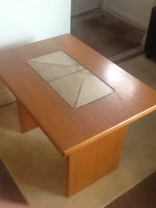 TEAK and TILE END TABLE