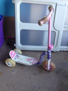 Barbie 3 wheel scooter