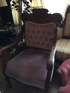 Beautiful Antique Settee and matching chair London Ontario image 6