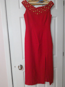 Lori ann Montreal size 8 red dress