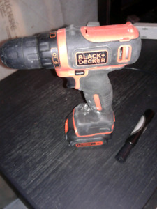 Black and Decker lithium 12v drill