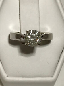 1.26CT DIAMOND ENGAGEMENT RING 18K WG ON SALE 50% OFF NOW!!!!