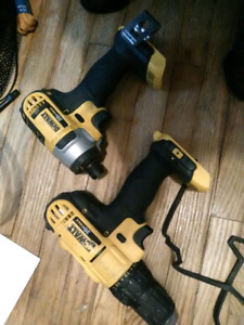 20v dewalt drill and compact  2 battery no charger