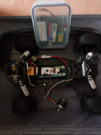 RC Radio Control car and batteries old kit