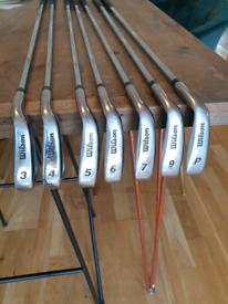 Wilson Prostaff Golf Clubs (Not a full set)