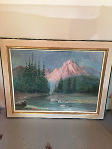 Pink Mountain Painting