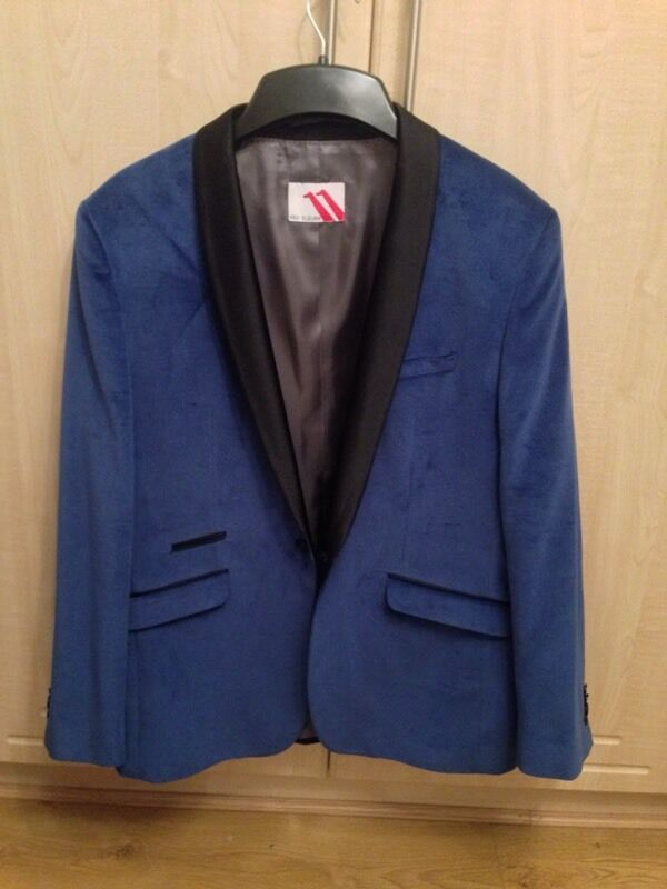 Blue velvet jacket perfect for christmas