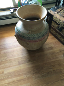 greek urn style clay planter,25 inches high