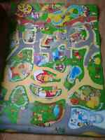 Fisher Price Little People Large Car/Play Mat, Like New.