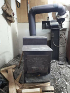 Wood stove with Piping
