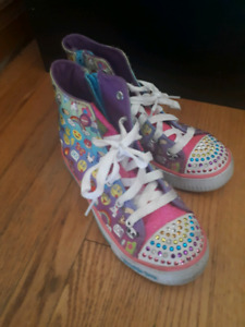 Size1 light up twinkle toe Sketchers high cuts