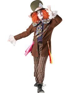 Adult-Disney-Mad-Hatter-Alice-In-Wonderland-Fancy-Dress-Costume-Men-Gents-BN