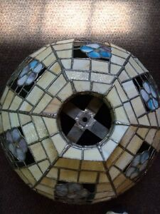 Tiffany Style leaded glass lamp chandelier-must go $150