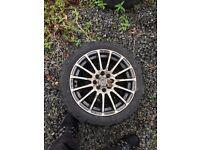 Wolf race wheels multi fit 15in alloys