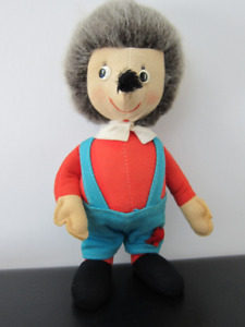 "VINTAGE 1960s 11"" MERRYTHOUGHT MR TWISTY HEDGEHOG RARE"