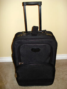 """Black Carry On Luggage- With Handle & Wheels- 21"""""""