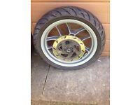 Aprilia sportcity one front wheel