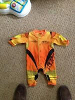 Boys dirt bike onesie