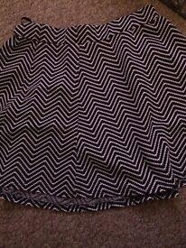 Black and white skirt size 14