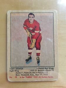 Carte hockey parkhurst 1951-1952