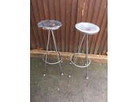 CHROME BAR STOOLS X 2 ** FREE DELIVERY TONIGHT **