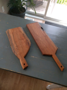 Custom cutting boards and serving trays.