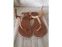 Tan & Gold Sandals