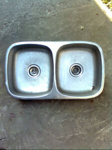 Two Kitchen sinks
