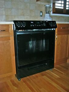 Oven with Glass top stove