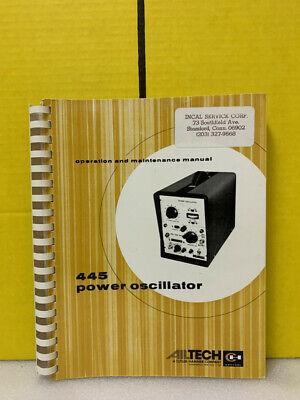 Ailtech 445 Power Oscillator Operation And Maintenance Manual