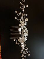 Pearl and crystal hair piece / comb