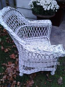 Vintage wicker porch chair