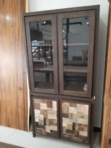 LAST ONE AVAILABLE - Reclaimed Wood Glass Display Cabinet