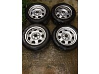 Genuine Mercedes Alloys with tyres.