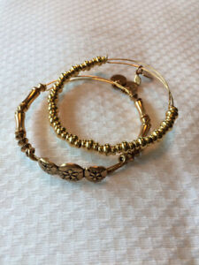 Alex and Ani bracelet set - sand dollar and beaded bangles