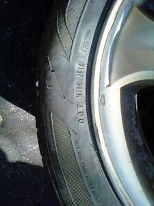 4 Goodyear Allegra Tires on Hyundai rims, 195R60 15 Kitchener / Waterloo Kitchener Area image 3