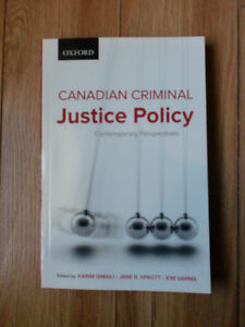 Canadian Criminal Justice Policy Contemporary Perspectives