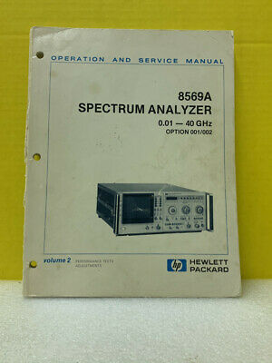 Hp 08569-90001 8569a Spectrum Analyzer Operating And Service Manual