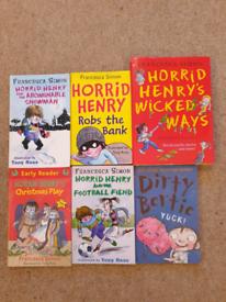 5 x Horrid Henry Books Plus Free Gift!