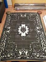 5 x 8 Brand New Grey Area Rug Carpet Middle east design