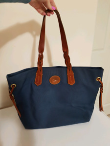 Dooney and Bourke navy canvas tote