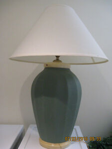 Large Moss Green Table Lamp