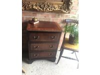 ANTIQUE BEDSIDE TABLE CABINET FREE DELIVERY SMALL CHEST