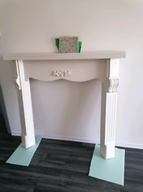 Wooden Fireplace Surround(+marble slabs)